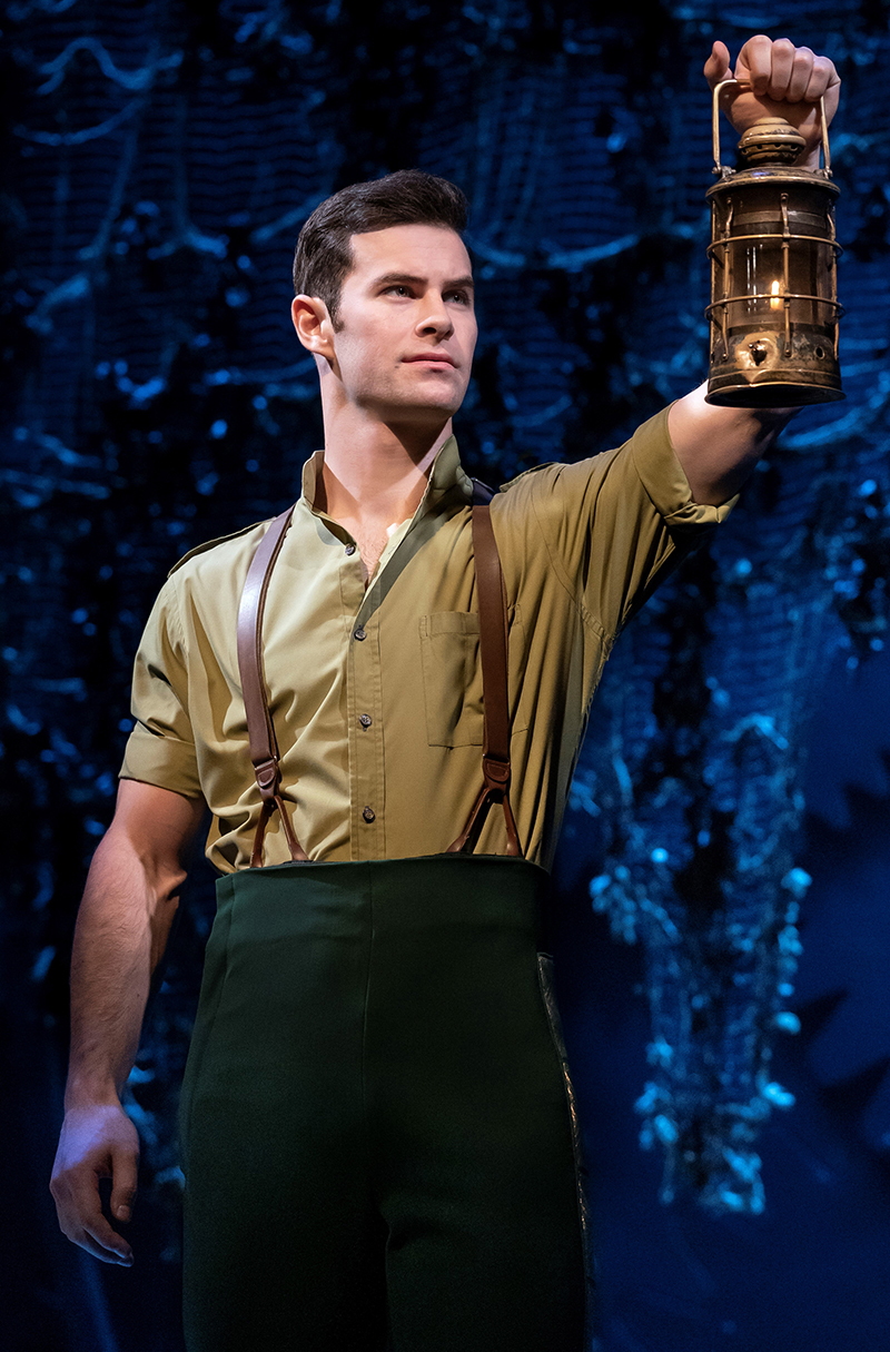 Sam Gravitee in <i>Wicked</i>. Photo by Joan Marcus.