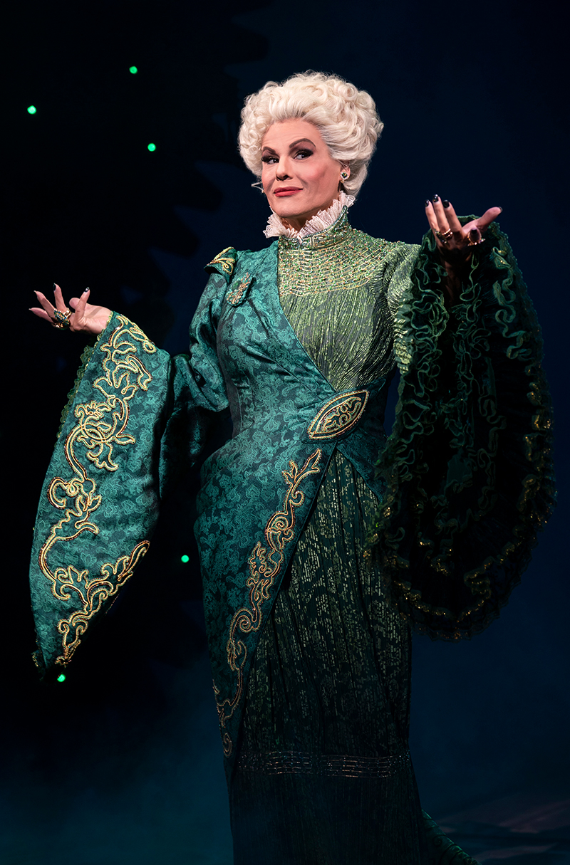 Alexandra Billings in <i>Wicked</i>. Photo by Joan Marcus.