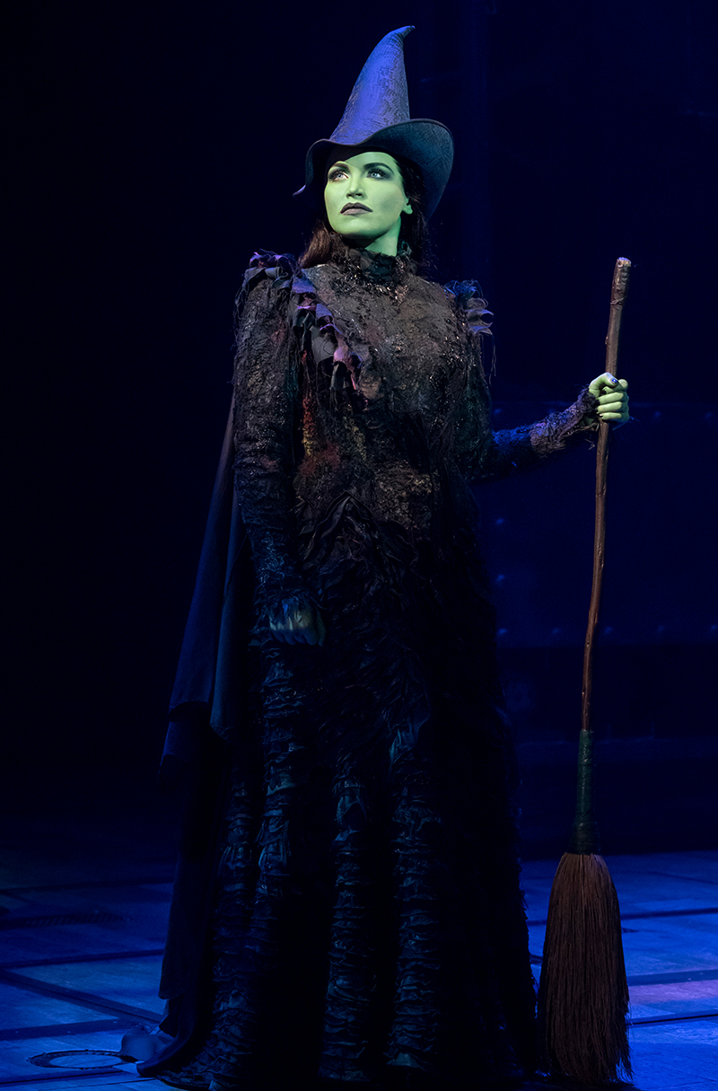 Lindsay Pearce in <i>Wicked</i>. Photo by Joan Marcus.