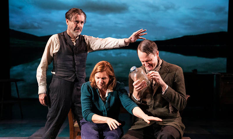 Matt McGrath, Mare Winningham, and Todd Almond in <i>Girl From the North Country</i>. Photo by Matthew Murphy.