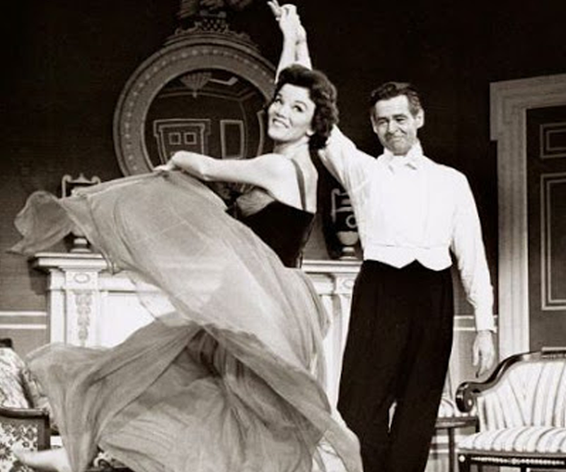 "Robert Ryan and Nanette Fabray in the Broadway production of ""Mr. President"""