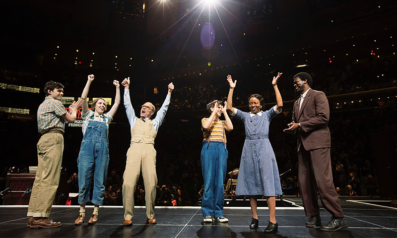 The cast of <i>To Kill a Mockingbird</i> at Madison Square Garden. Photo by Little Fang.