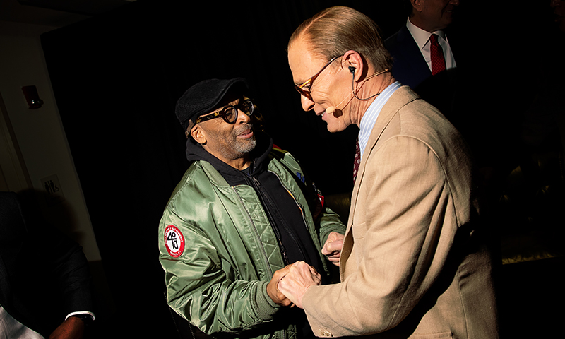 Spike Lee and Ed Harris. Photo by Little Fang.