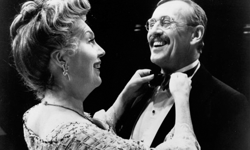 Beth Fowler and Len Cariou in the Broadway production of <i>Teddy & Alice</i>.