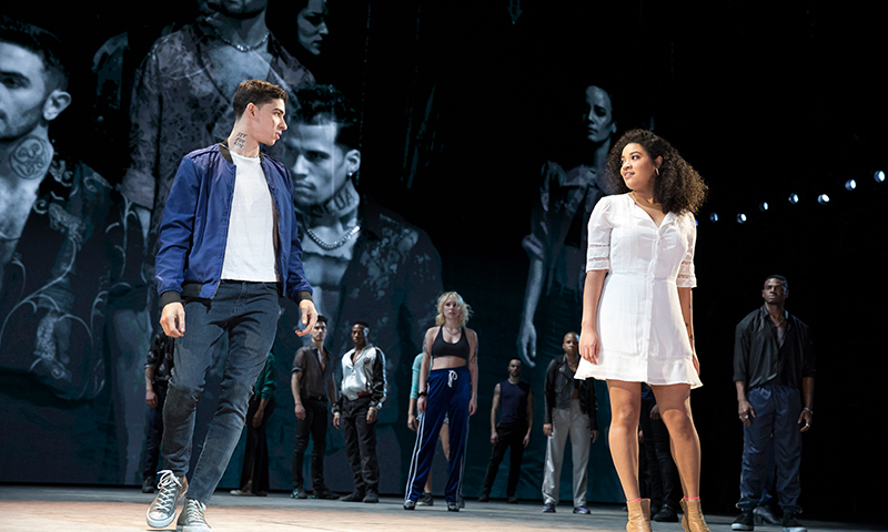 Isaac Powell and Shereen Pimentel in <i>West Side Story</i>. Photo by Julieta Cervantes.