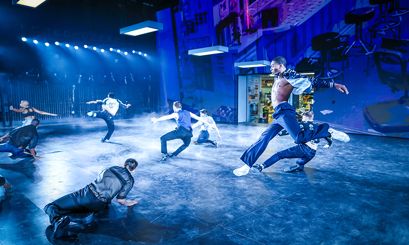 Dharon E. Jones and the cast of <i>West Side Story</i>. Photo by Jan Versweyveld.
