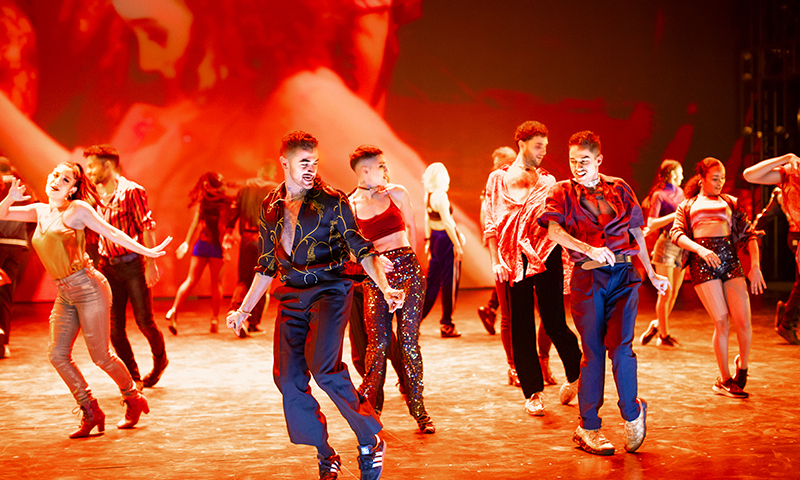 The cast of <i>West Side Story</i>. Photo by Jan Versweyveld.