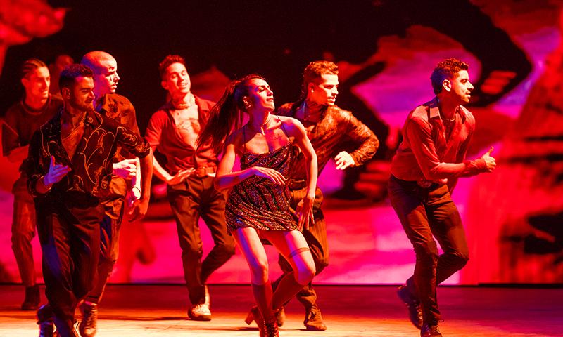 Yesenia Ayala and the cast of <i>West Side Story</i>. Photo by Jan Versweyveld.