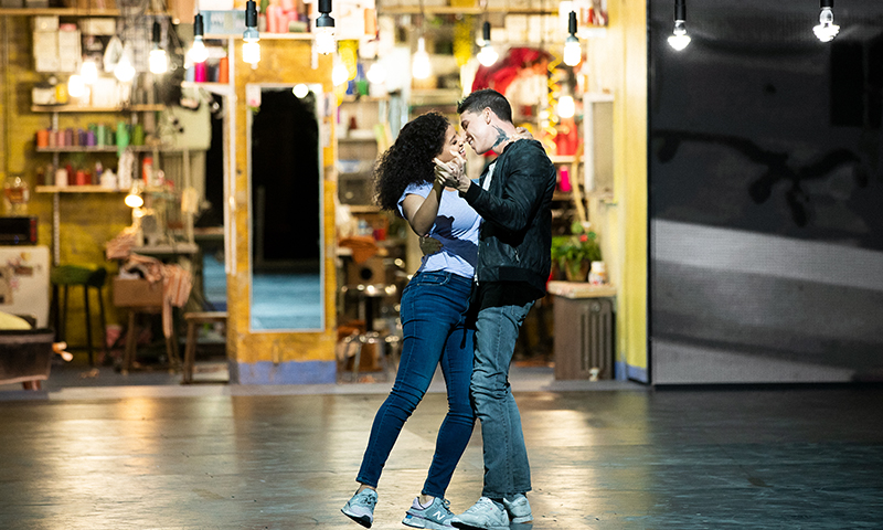 Shereen Pimentel and Isaac Powell in <i>West Side Story</i>. Photo by Jan Versweyveld.