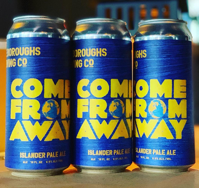 <i>Come From Away</i>'s Islander Pale Ale. Photo from Broadway Brews Project.