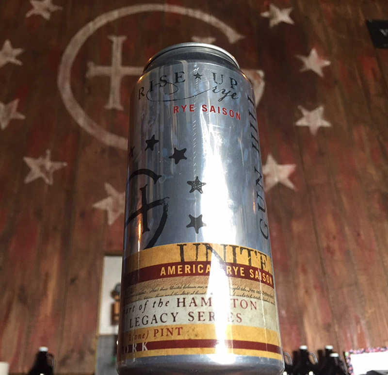 <i>Hamilton</i>'s American Rye Saison. Photo from Broadway Brews Project.