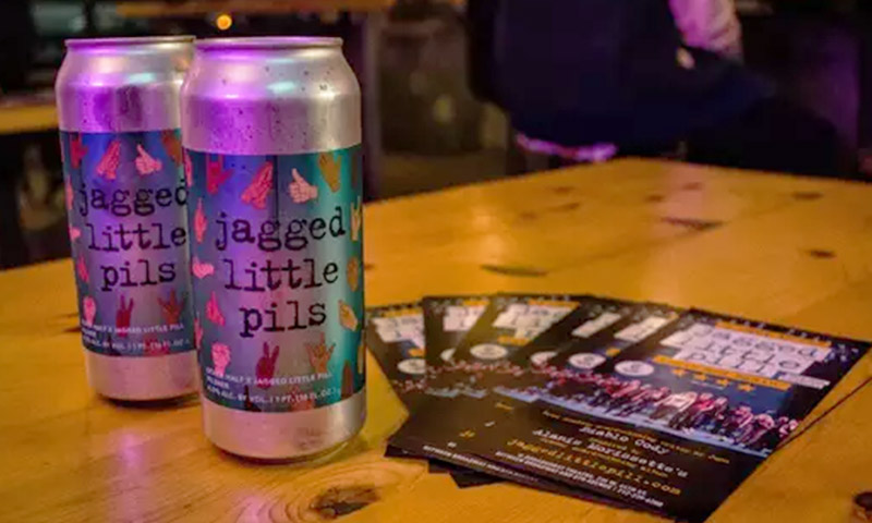 <i>Jagged Little Pill</i>'s Jagged Little Pils by Other Half Brewing Company. Photo by Katherine Lee.