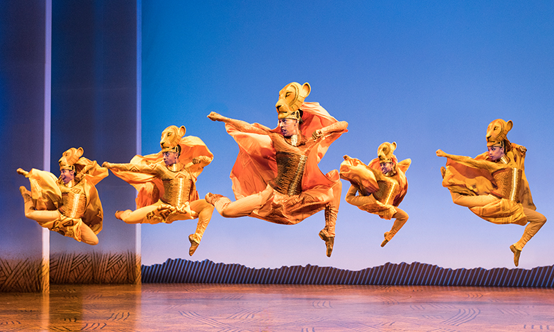 Lionesses Dance in <i>The Lion King</i> North American Tour. Photo by Deen van Meer.