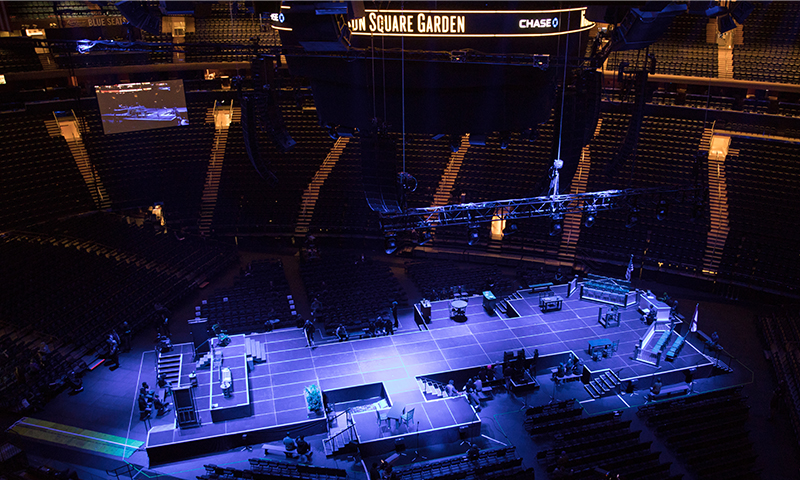 The set of <i>To Kill a Mockingbird</i> at Madison Square Garden.