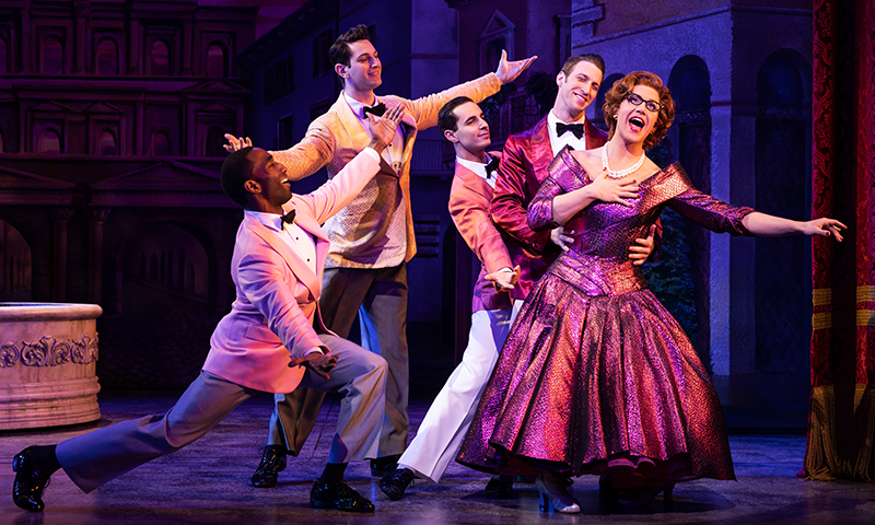 Santino Fontana and Company in <i>Tootsie</i>, Original Broadway Cast. Photo by Matthew Murphy.