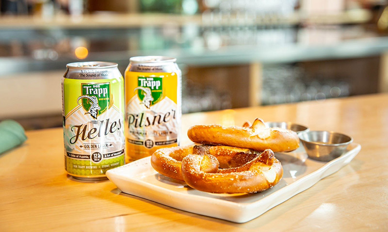 <i>The Sound of Music</i>'s Von Trapp Helles and Pilsner. Photo by Von Trapp Brewing.