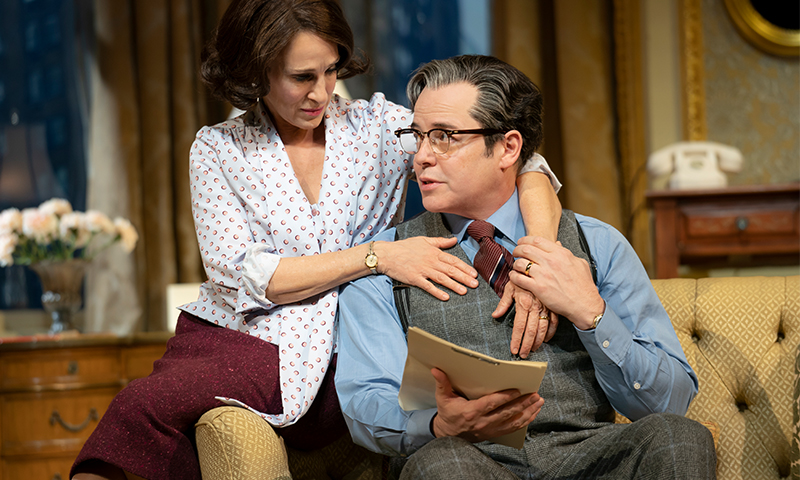 Sarah Jessica Parker and Matthew Broderick in <i>Plaza Suite</i> at Boston's Colonial Emerson Theatre. Photo by Joan Marcus.