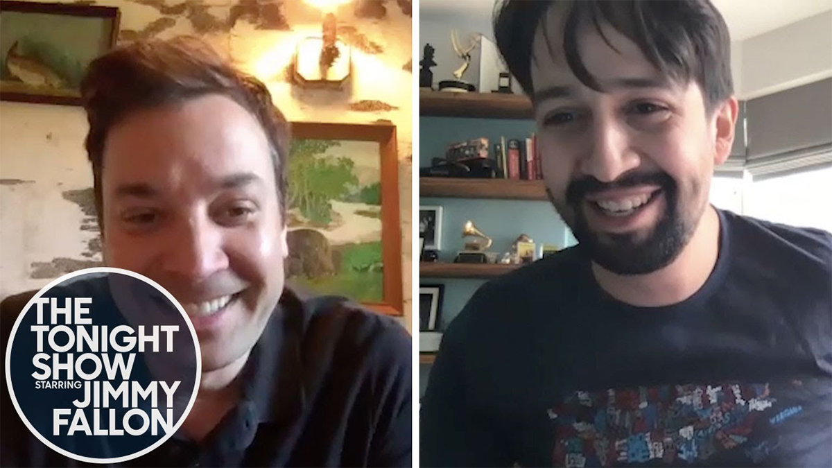 Jimmy Fallon and Lin-Manuel Miranda At Home Edition
