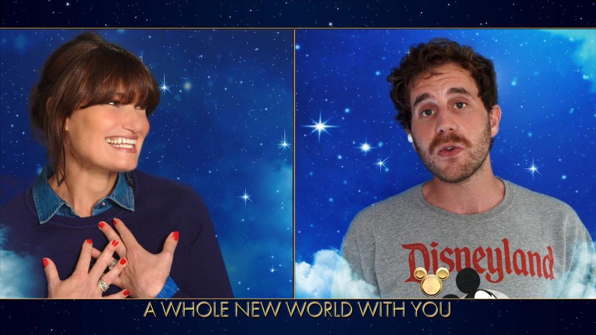 Idina Menzel and Ben Platt Sing A Whole New World