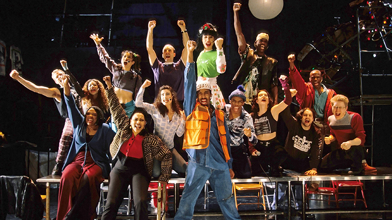The original Broadway cast of <i>RENT</i>. Photo by Joan Marcus.