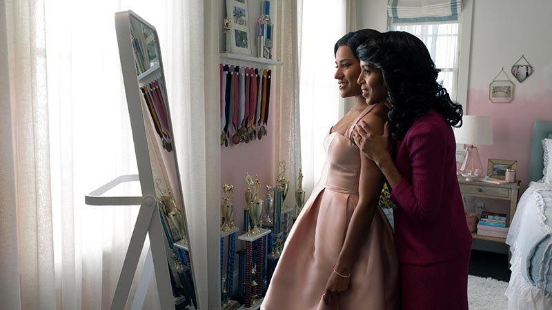 Ariana DeBose and Kerry Washington in <i>The Prom</i>. Photo by Melinda Sue Gordon for Netflix.
