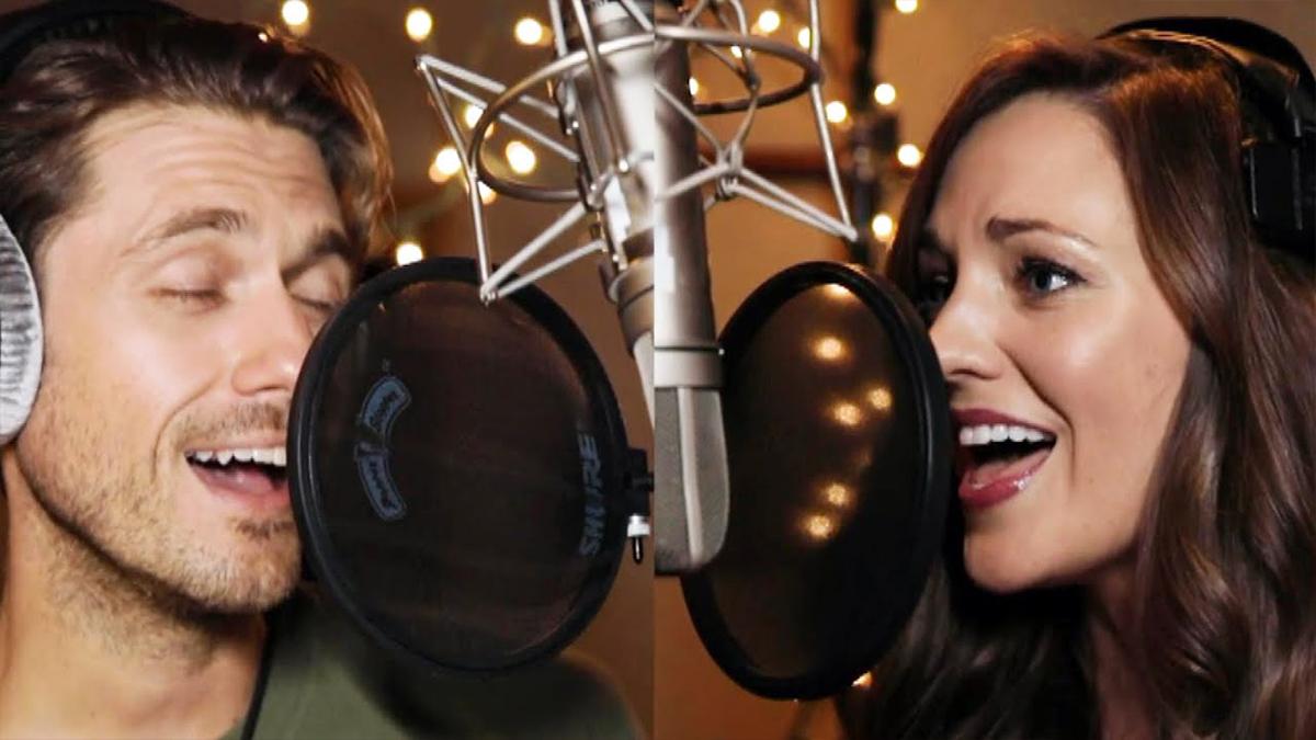 "Aaron Tveit and Laura Osnes Sing ""Winter Wonderland"""