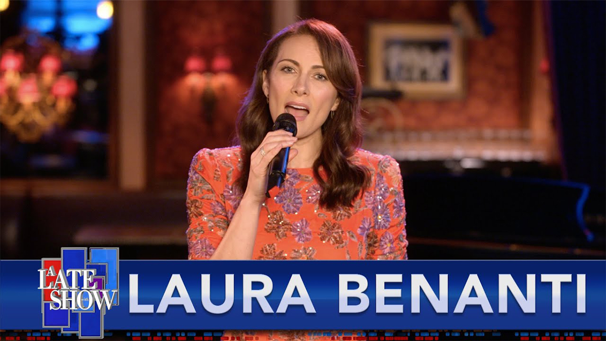 Laura Benanti Sings Don't Worry 'Bout Me on Stephen Colbert