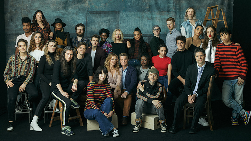 The cast and creative team of <i>Jagged Little Pill</i>. Photo by Nathan Johnson.