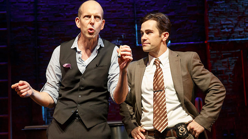Jeff Blumenkrantz and and Brett Ryback in <i>Murder for Two</i>. Photo by Joan Marcus.