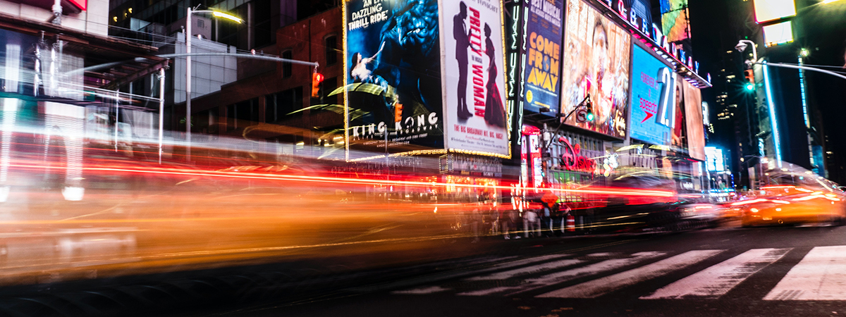 Theatre Fans Look Forward to Broadway - Times Square image