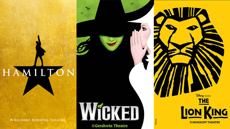 Hamilton, Wicked, The Lion King