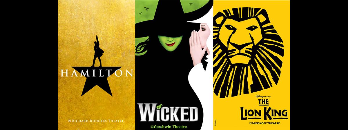 Hamilton, Wicked, The Lion King
