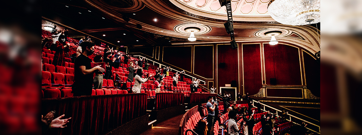 NY PopsUp audience at the Broadway Theatre. Photo by Nina Westervelt for NY PopsUp.