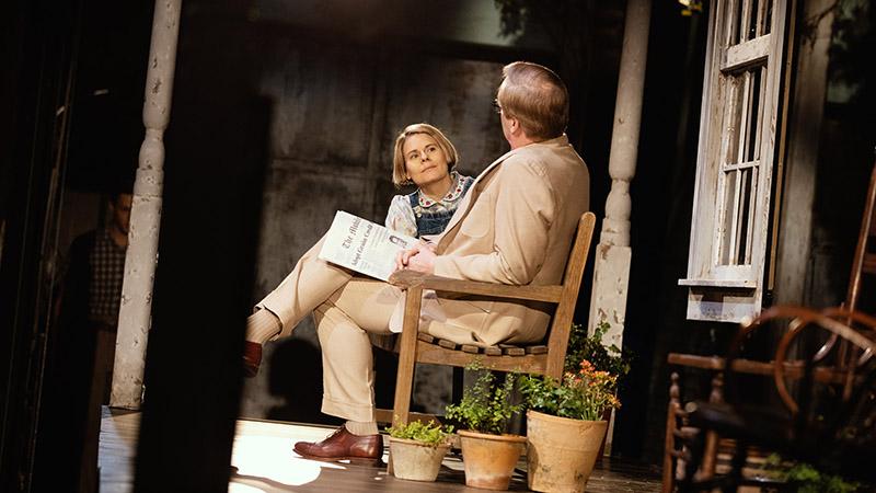 Celia Keenan-Bolger and Jeff Daniels in <i>To Kill a Mockingbird</i>. Photo by Julieta Cervantes.