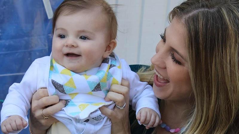Ashley Blair Fitzgerald with Rowan.