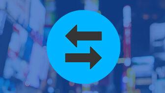 Refund Exchange Icon on a blue background