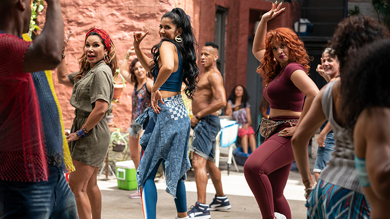 Daphne Rubin-Vega as Daniela, Stephanie Beatriz as Carla and Dasha Polanco as Cuca in Warner Bros. Pictures' <i>In the Heights</i>, a Warner Bros. Pictures release.