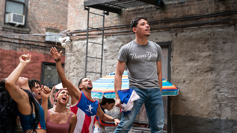 Anthony Ramos as Usnavi in Warner Bros. Pictures' <i>In the Heights</i>, a Warner Bros. Pictures release. Photo by Macall Polay.
