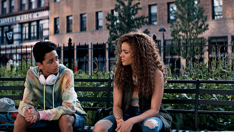 Gregory Diaz IV as Sonny and Leslie Grace as Nina Rosario in Warner Bros. Pictures' <i>In the Heights</i>, a Warner Bros. Pictures release. Photo courtesy of Warner Bros. Pictures