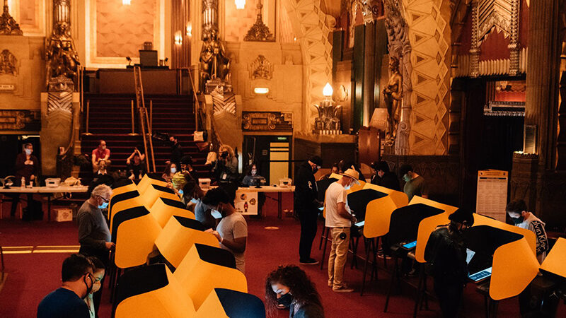 The Pantages Theater Voting Center 2020