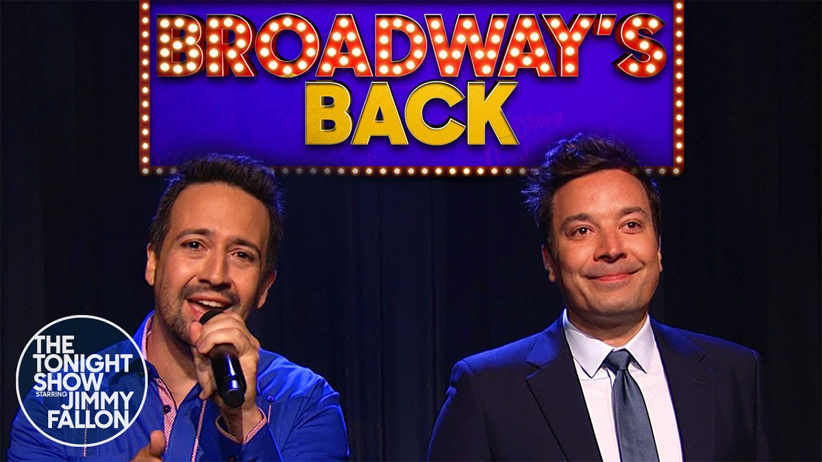 Broadway's Back with Lin-Manuel Miranda on The Tonight Show with Jimmy Fallon