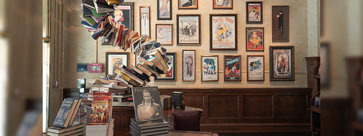 The interior of the Drama Book Shop. Photo by Drew Dockser.