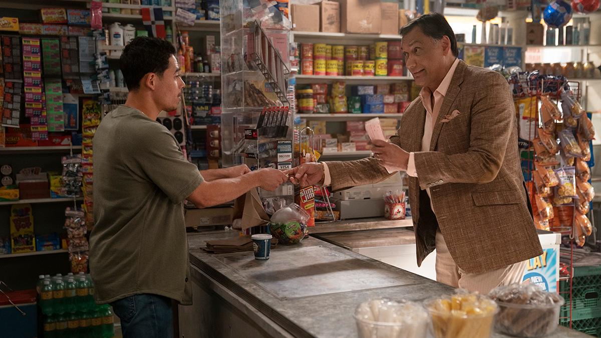 In the Heights Production Photo: Anthony Ramos and Jimmy Smits