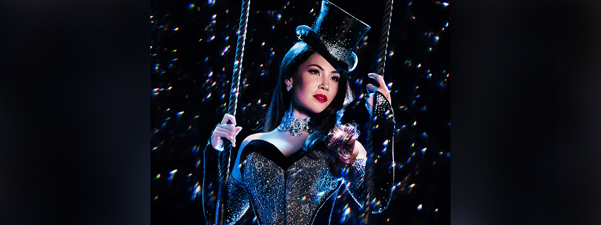 Natalie Mendoza as Satine in Moulin Rouge!
