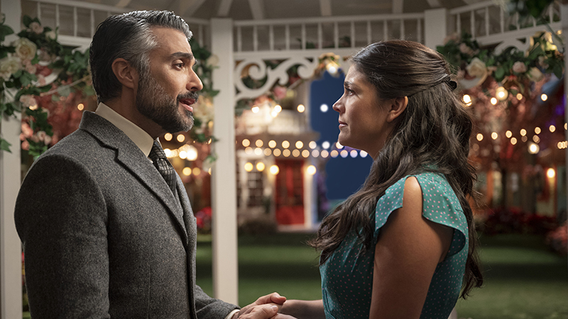 Jaime Camil and Cecily Strong in <i>Schmigadoon!</i> now streaming now on Apple TV+.