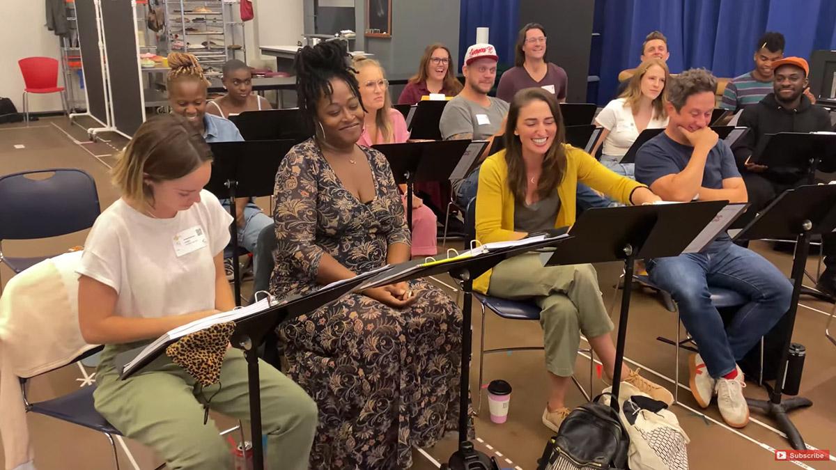 Waitress Cast in Rehearsal